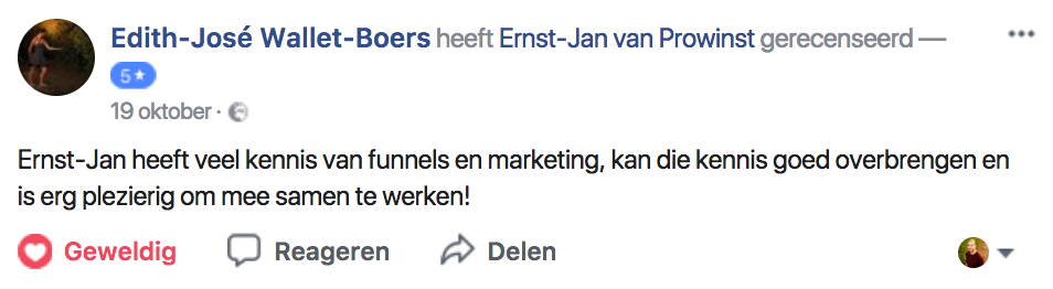 6v marketing training beoordeling 2